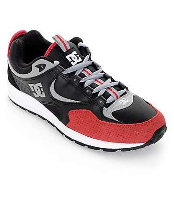 DC Kalis Lite Black & Red Skate Shoes