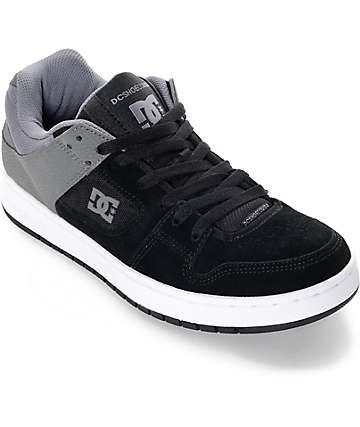 DC Manteca Black and Grey Skate Shoes