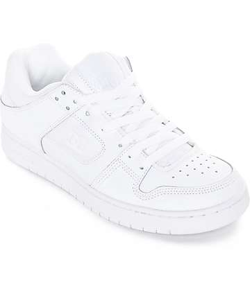 DC Manteca White Skate Shoes
