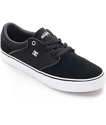 DC Mikey Taylor Vulc Black, White, & Grey Skate Shoes