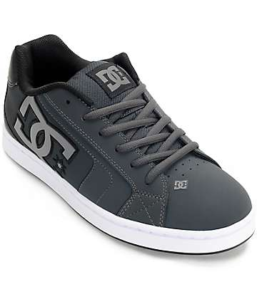 DC Net Grey & Black Skate Shoes