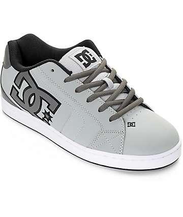 DC Net zapatos de skate en gris y blanco