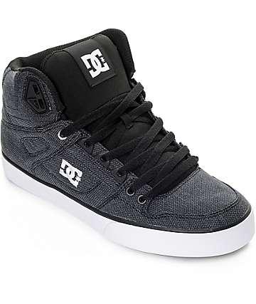 DC Spartan Hi TX SE zapatos de skate en lavado negro