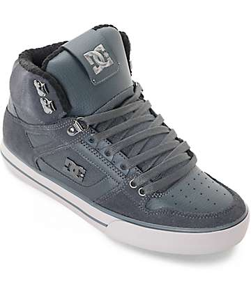 DC Spartan High SE Grey Skate Shoes