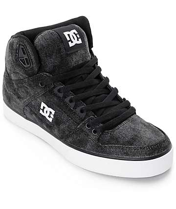 DC Spartan WC TX SE Black Acid High Top Skate Shoes