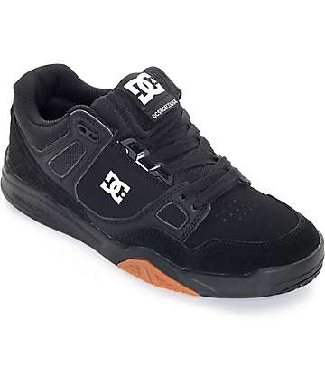 DC Stag 2 Black & Gum Skate Shoes