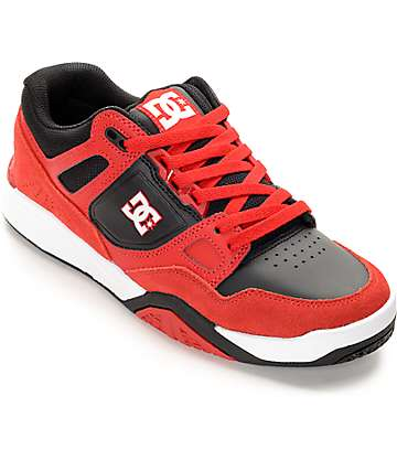DC Stag 2 Red, Black & White Skate Shoes