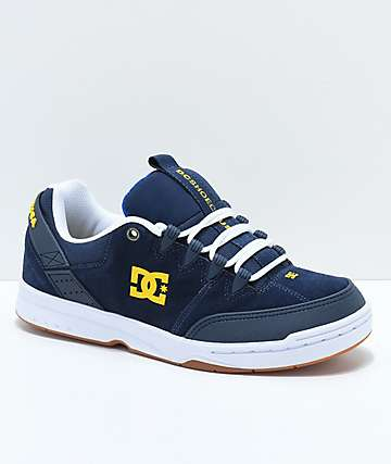 DC Syntax Navy & White Skate Shoes
