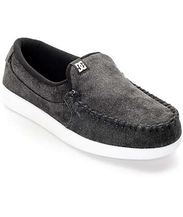 DC Villain Black Acid & White Slip On Shoes