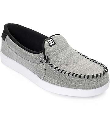 DC Villain TX Grey Heather Slip On Shoes