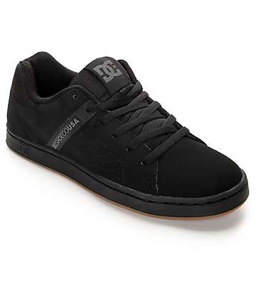 DC Wage Black Skate Shoes