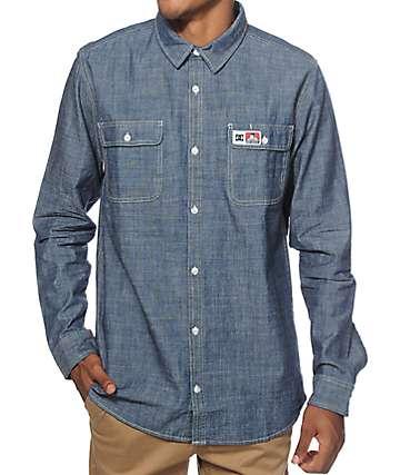 DC x Ben Davis Chambray Long Sleeve Button Up Shirt