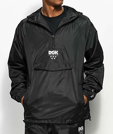 DGK 24\7 Black Windbreaker Anorak Jacket