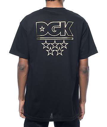 DGK All Star Black & Gold T-Shirt