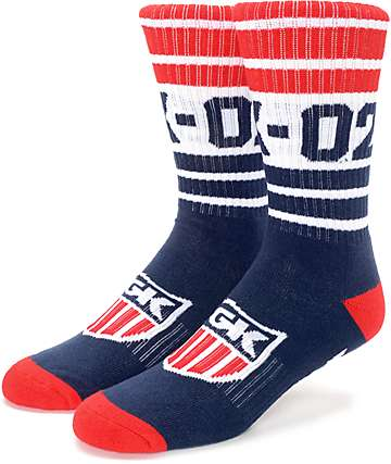 DGK Captain Navy Crew Socks