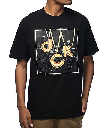 DGK City Lights Black & Gold T-Shirt