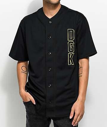 DGK Clutch jersey de béisbol negro
