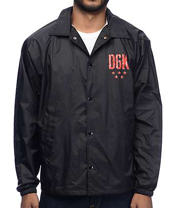 DGK Coast To Coast Black Coaches Jacket