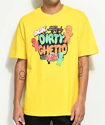 DGK Convenience camiseta en color amarillo