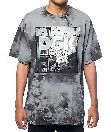 DGK Corner Tie Dye Grey T-Shirt