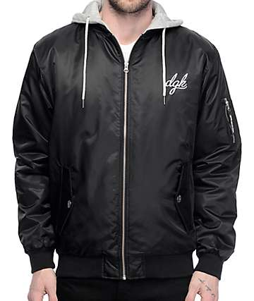 DGK Defend Black Bomber Jacket