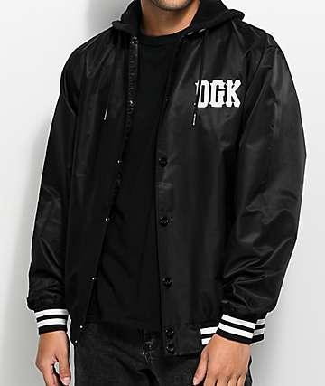 DGK Double Play chaqueta bomber negra con capucha