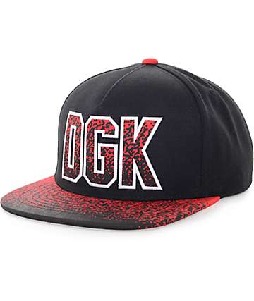 DGK Fader Black & Red Snapback Hat