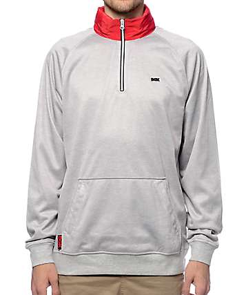 DGK Flight Half Zip Heather Grey Jacket