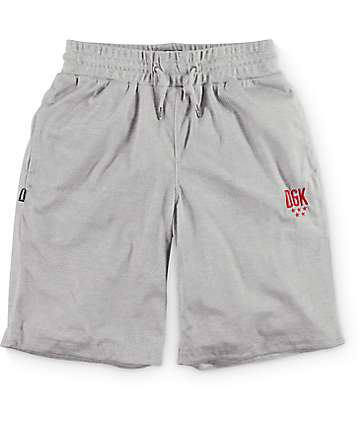 DGK Flight Heather Grey Athletic Shorts