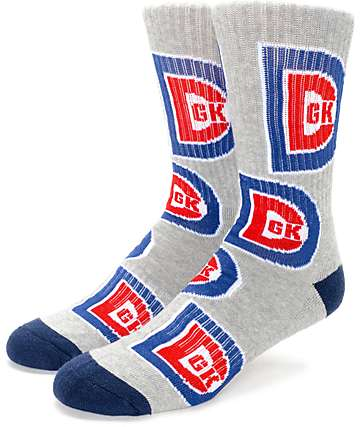 DGK Free Agent Heather Grey Crew Socks