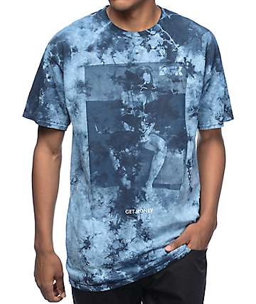 DGK Get Money Blue Stain Tie Dye T-Shirt