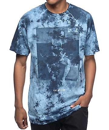 DGK Get Money Blue Stain Tie Dye T-Shirt