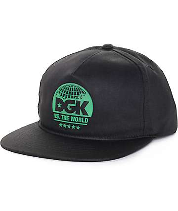DGK Global Black Snapback Hat