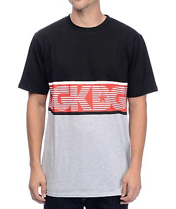 DGK Hang Time Black & Grey T-Shirt