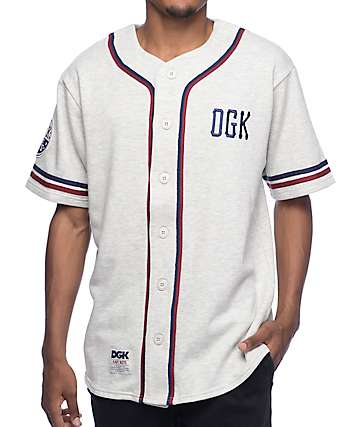 DGK Infield Grey Baseball Jersey