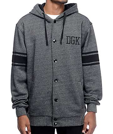 DGK International Snap Charcoal Hoodie