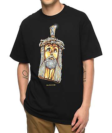 DGK Jesus Piece camiseta negra