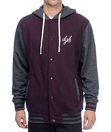 DGK Leisure Snap Front Fleece Jacket