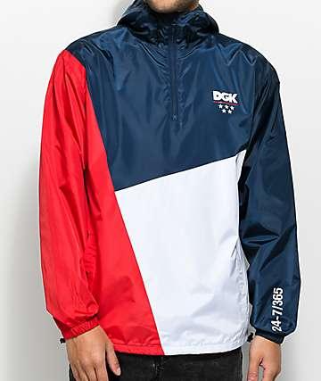 DGK Lenox chaqueta cortavientos en rojo, azul y blanco