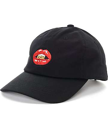 DGK Lips Black Polo Strapback Hat