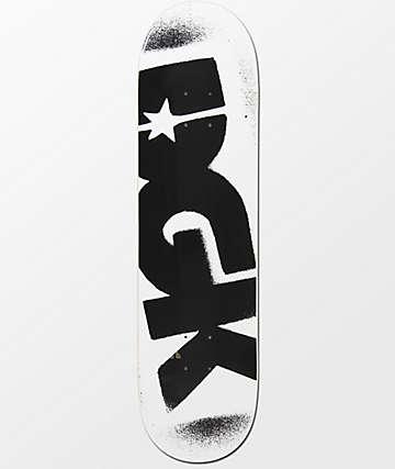 """DGK Logo 8.25"""" tabla de skate en blanco y negro"""