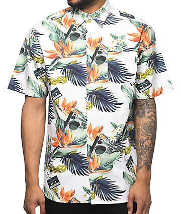 DGK Mixtape Floral Short Sleeve Button Up Shirt