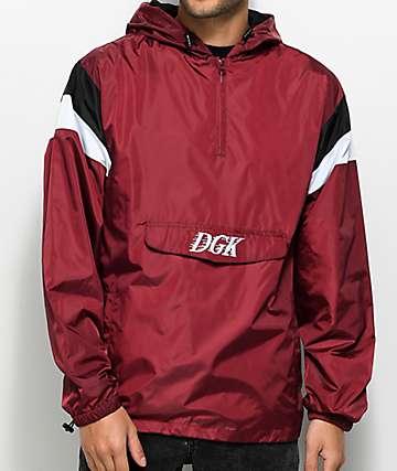 DGK Offside chaqueta cortavientos anorak en color vino