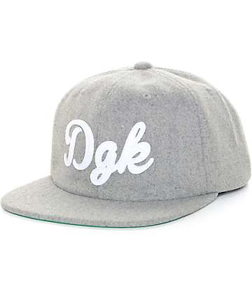DGK Past Time Heather Grey Strapback Hat