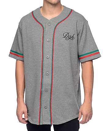 DGK Perseverance Grey Baseball Jersey
