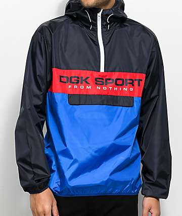 DGK Ruckus Blue & Red Windbreaker Jacket