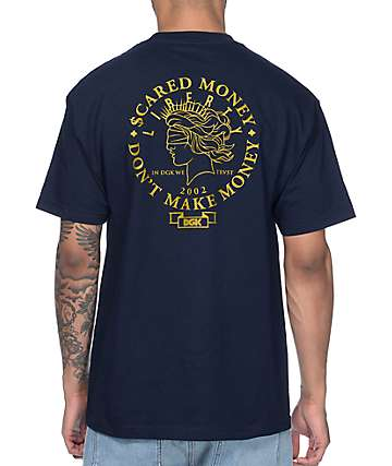 DGK Scared Money Navy T-Shirt