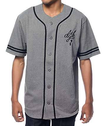 DGK School Yard Grey Baseball Jersey