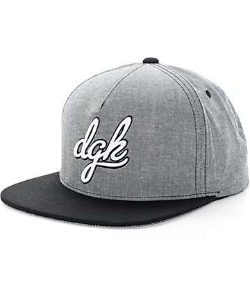 DGK Schoolyard Black & Charcoal Snapback Hat
