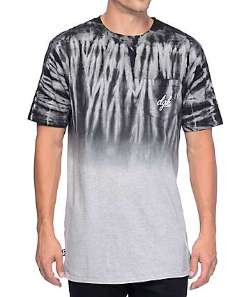 DGK Shade Black Dip Dye Pocket T-Shirt